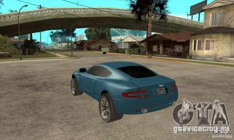 Aston Martin DB9 из NFS MW для GTA San Andreas