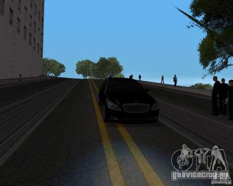 Mercedes Benz S500 w221 SE для GTA San Andreas вид сзади