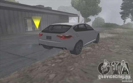 Субару Импреза в стиле SA для GTA San Andreas вид сзади слева