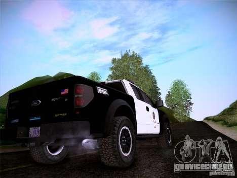 Ford Raptor Police для GTA San Andreas вид сбоку
