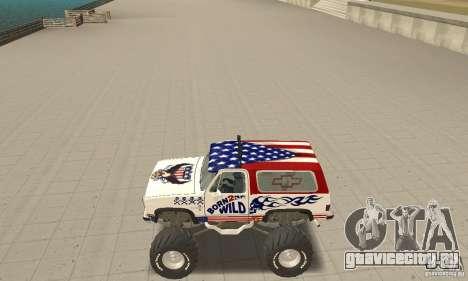 Chevrolet Blazer K5 Monster Skin 7 для GTA San Andreas