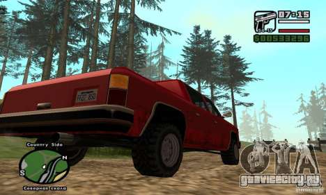 Rancher 4 Doors Pick-Up для GTA San Andreas вид справа