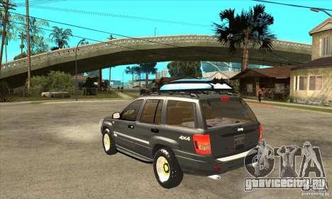 Jeep Grand Cherokee 2005 для GTA San Andreas вид сзади слева