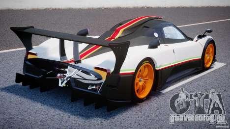 Pagani Zonda R 2009 Italian Stripes для GTA 4 вид сбоку