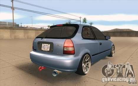 Honda Civic EK9 JDM v1.0 для GTA San Andreas вид сбоку