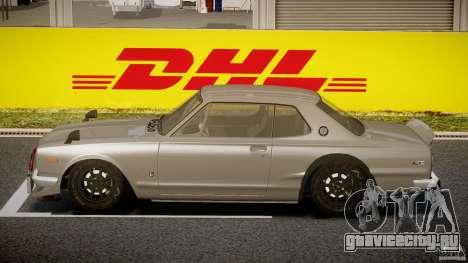 Nissan Skyline Hakosuka (KPGC10) Mountain Drift для GTA 4 вид слева