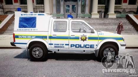 Nissan Frontier Essex Police Unit для GTA 4 вид изнутри