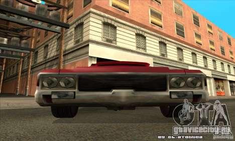 Sabre Drift для GTA San Andreas вид сзади