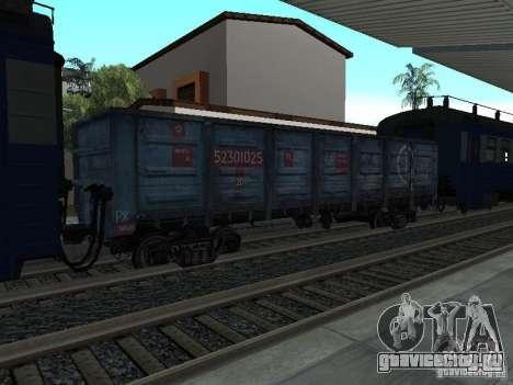 ТЭМ2УМ-248 + Полувагон Грузовая компания для GTA San Andreas вид сзади