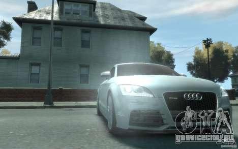Audi TT-RS для GTA 4 вид сзади