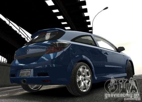 Opel Astra OPC для GTA 4 вид изнутри