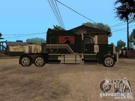 Custom Kenworth w900 - Custom - Trailer для GTA San Andreas вид сзади слева