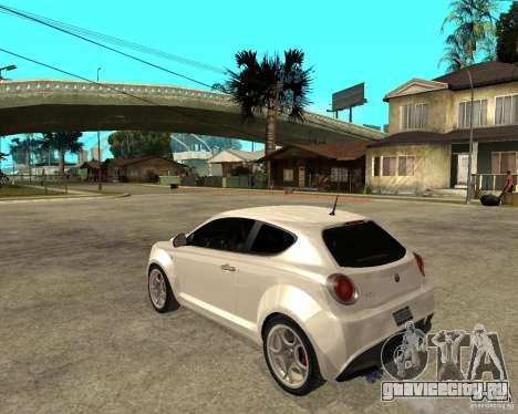 Alfa Romeo Mito для GTA San Andreas вид слева