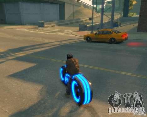 Мотоцикл из Трон (синий неон) для GTA 4