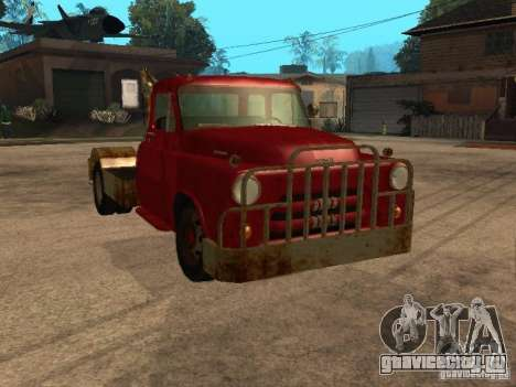 Dodge тягач ржавый для GTA San Andreas вид сбоку