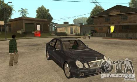 Mercedes-Benz E500 2003 для GTA San Andreas вид сзади