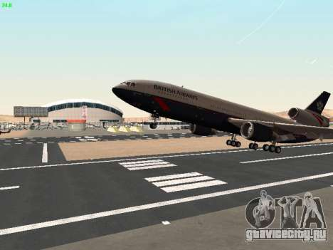 McDonell Douglas DC-10-30 British Airways для GTA San Andreas вид сбоку