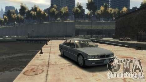 BMW 740i E38 для GTA 4 вид справа