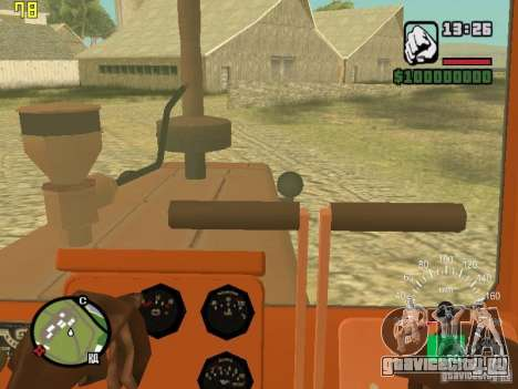 Трактор ДТ-75 Почтальон для GTA San Andreas вид изнутри