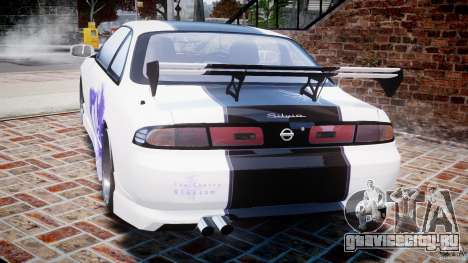 Nissan Silvia S14 [EPM] для GTA 4 вид сзади слева