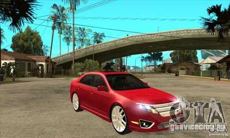 Ford Fusion Hybrid для GTA San Andreas вид сзади