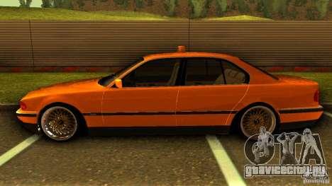 BMW 730i Taxi для GTA San Andreas вид слева