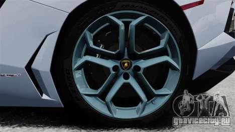 Lamborghini Aventador LP700-4 2012 v2.0 EPM для GTA 4 вид сзади