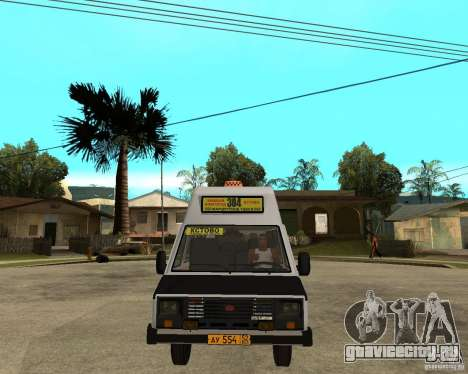 РАФ 22038 Маршрутное такси для GTA San Andreas вид сзади