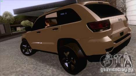 Jeep Grand Cherokee 2012 для GTA San Andreas вид справа