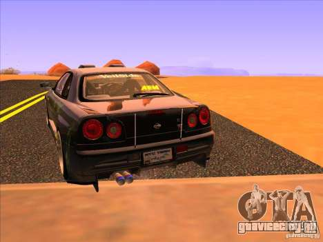 Nissan Skyline R34 Tunable для GTA San Andreas вид сзади слева