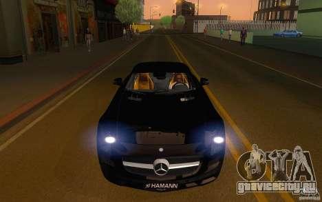 Mercedes Benz SLS HAMANN для GTA San Andreas вид сзади