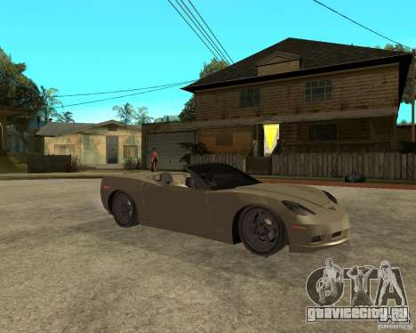 2005 Chevy Corvette C6 для GTA San Andreas вид справа