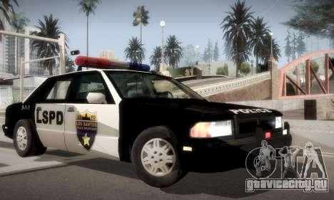 New Police LS для GTA San Andreas вид сзади слева