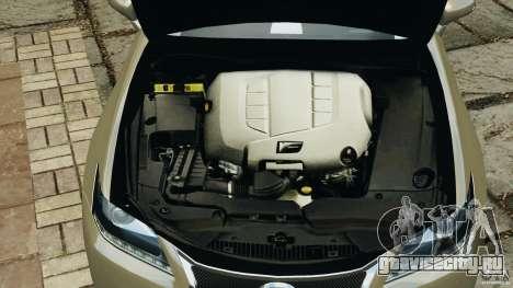 Lexus GS350 2013 v1.0 для GTA 4 вид снизу