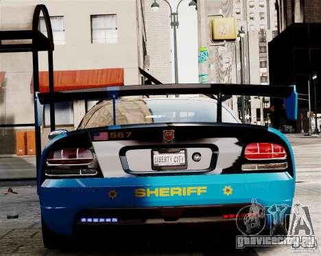 Dodge Viper SRT-10 ACR 2009 Police ELS для GTA 4 вид справа