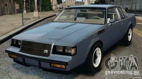 Buick GNX 1987 для GTA 4
