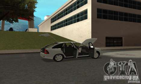 Lada Priora Hatchback для GTA San Andreas вид сверху