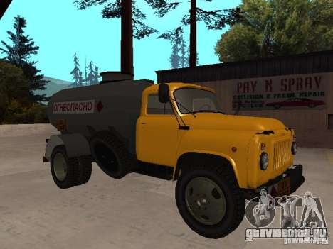 ГАЗ 53 Бензовоз для GTA San Andreas вид слева