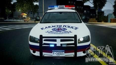 Dodge Charger Karachi City Police Dept Car [ELS] для GTA 4 вид изнутри