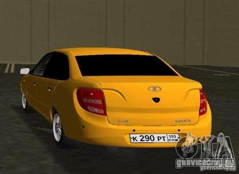 Lada Granta v2.0 для GTA Vice City вид сзади слева