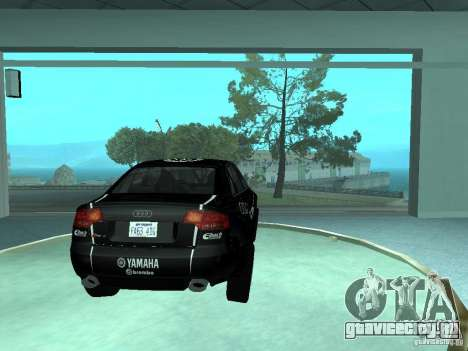 Audi RS4 для GTA San Andreas вид снизу