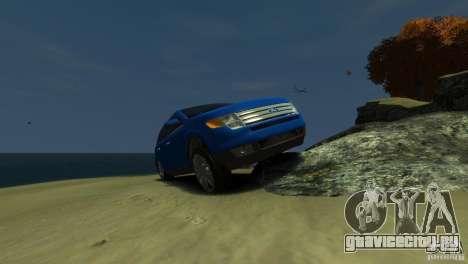 Ford Edge 2007 для GTA 4 вид изнутри