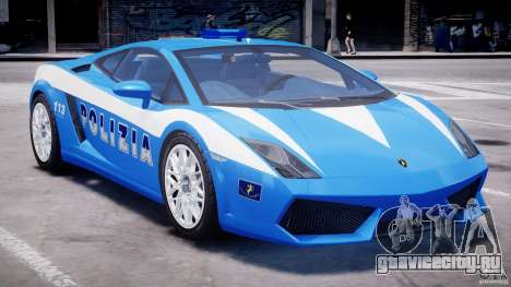 Lamborghini Gallardo LP560-4 Polizia для GTA 4 вид сверху