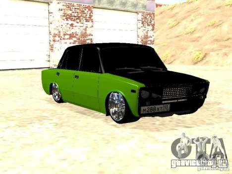 ВАЗ 2106 HUlK для GTA San Andreas вид сзади слева