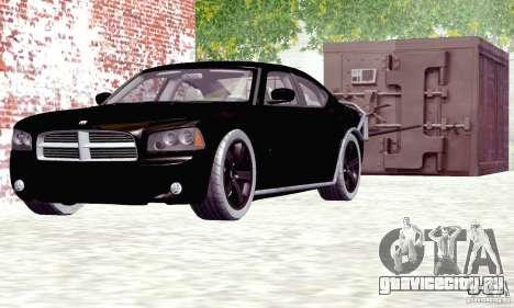 Dodge Charger Fast Five для GTA San Andreas вид сзади слева