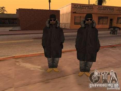 Зимняя одежда для Баллас для GTA San Andreas четвёртый скриншот