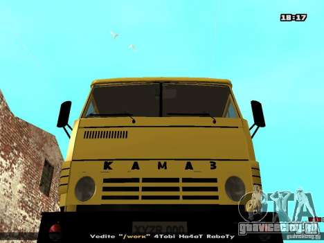 КамАЗ 53112 Бетономешалка для GTA San Andreas вид сзади