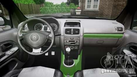Renault Clio V6 для GTA 4 вид сзади