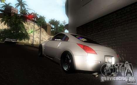 Nissan 350z Speedhunters для GTA San Andreas вид сзади слева