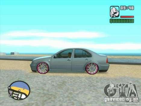VW Bora Tuned для GTA San Andreas вид сзади